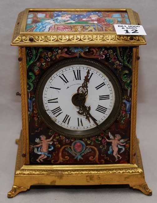 2012: Antique French Enamel fancy travel clock