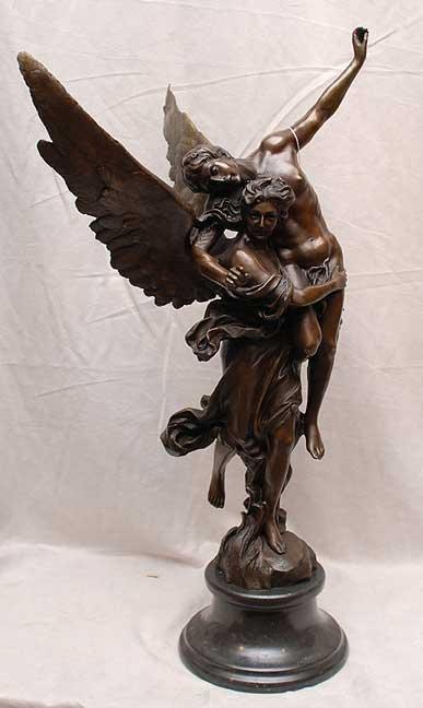 "2016: 2 figure bronze on marble base, 24""h"