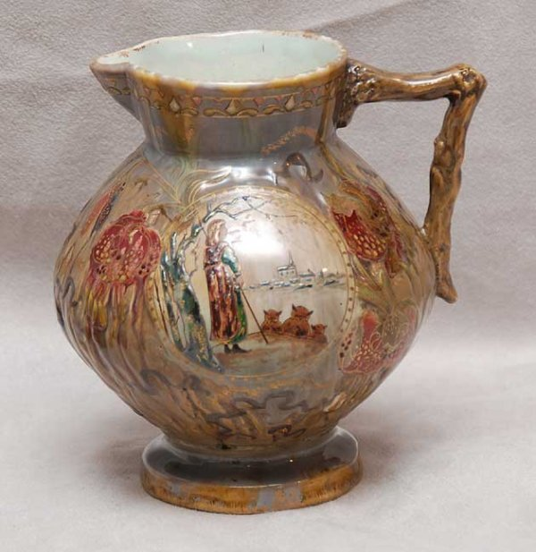 2077: Galle pottery vase pitcher medieval shepherd