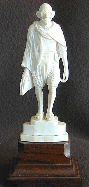 95144c70d 2114  Mahatma Gandhi ivory sculpture early 20th century