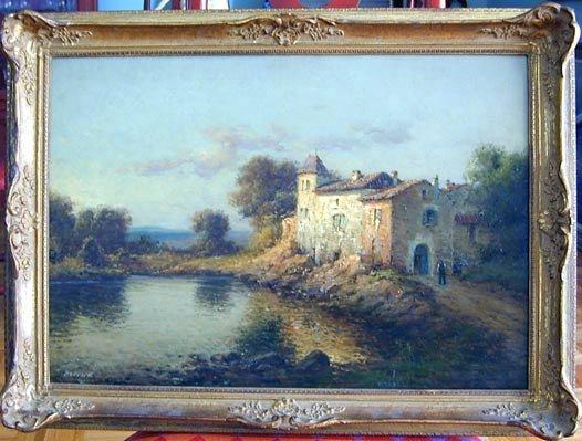 2158: Antoine Bouvard, French (1870-1956) oil on canvas