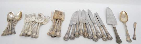 44 Pcs TOWLE STERLING SILVER FLATWARE OLD MASTER