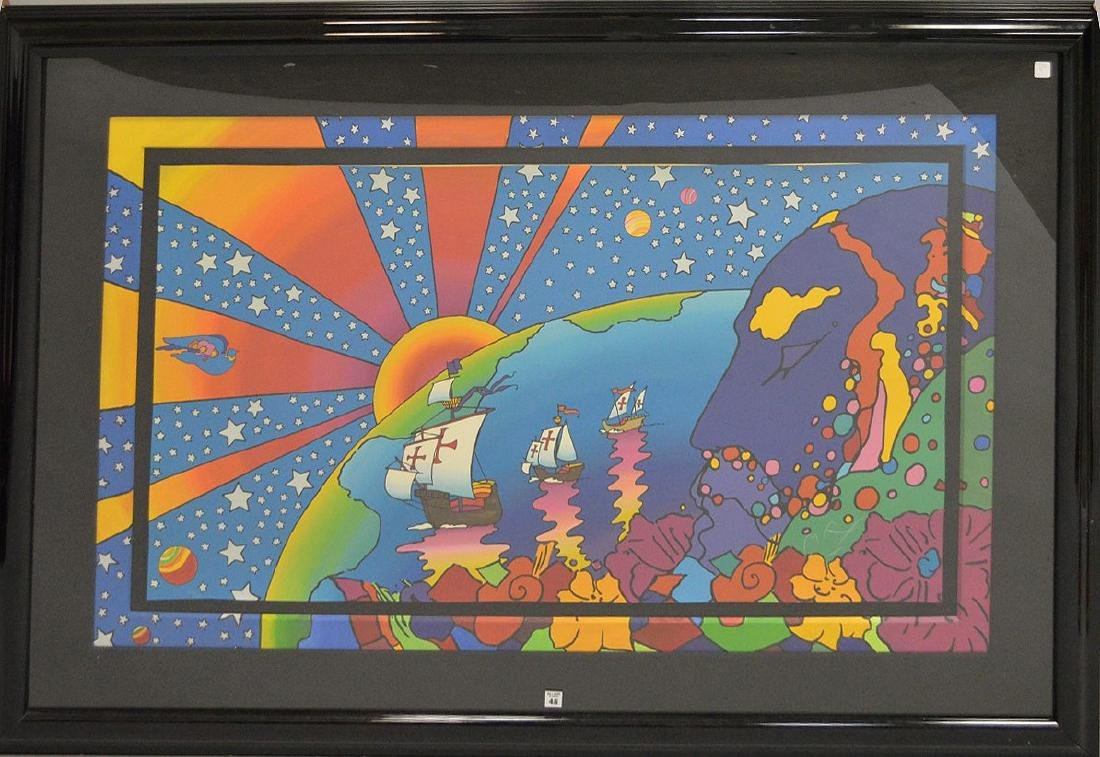Peter Max Discovery Deluxe Custom Framed Art Artwork by