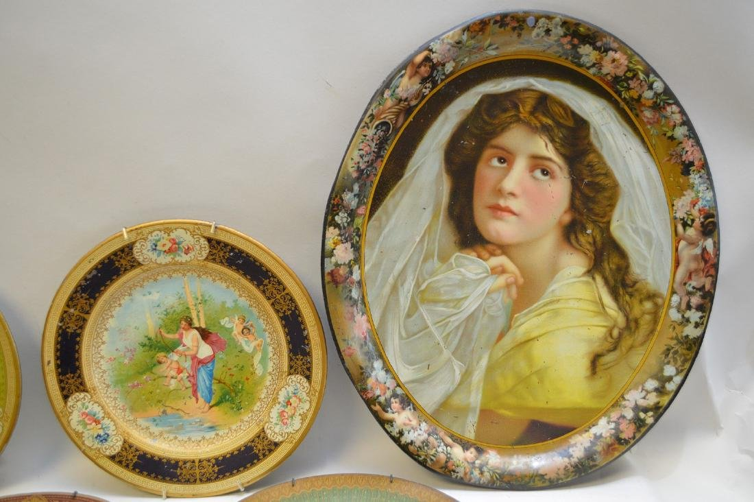 6 VIENNA METAL ART PLATES.  Together with a Vienna - 2