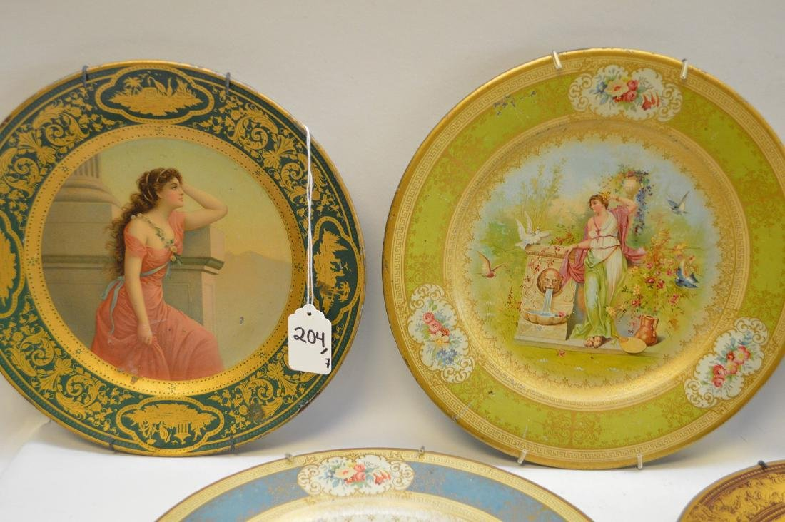 6 VIENNA METAL ART PLATES.  Together with a Vienna - 3