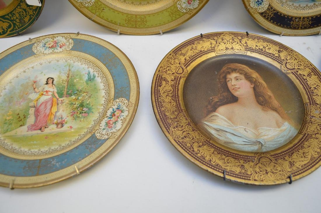 6 VIENNA METAL ART PLATES.  Together with a Vienna - 4