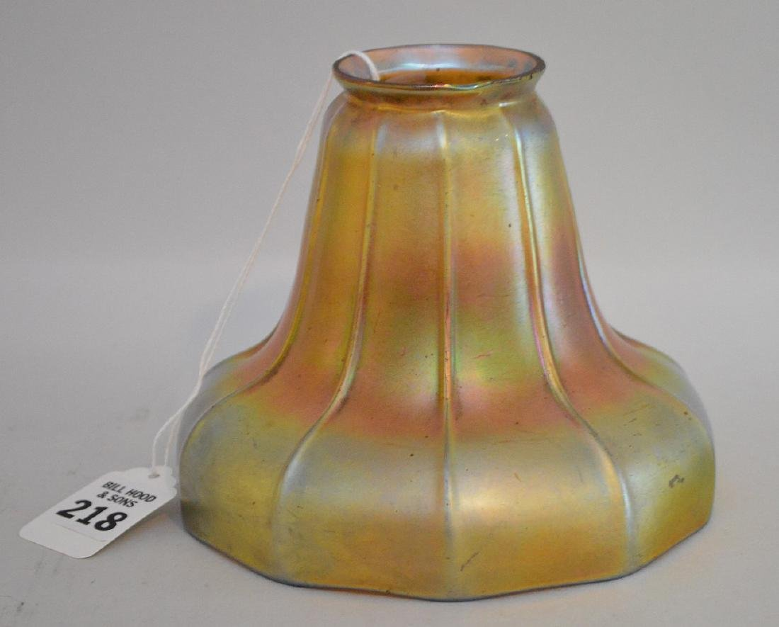 STEUBEN AURENE GLASS SHADE.  Condition: no cracks or