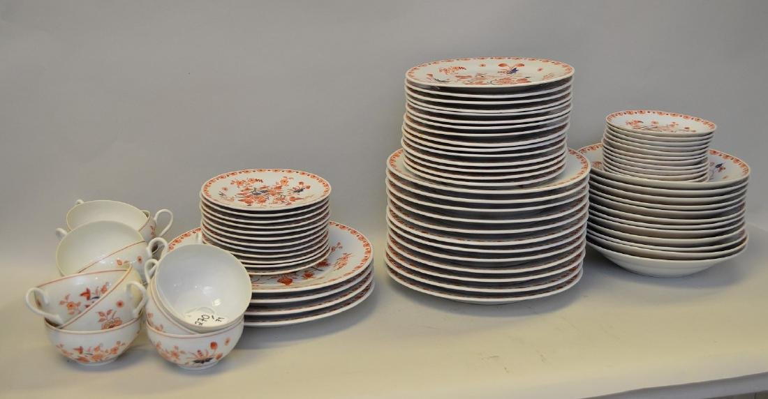 79 pieces Imari partial porcelain china, largest dinner