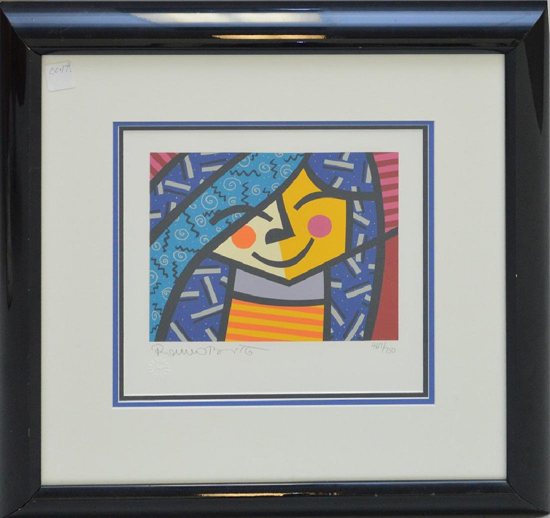 Romero Britto (BRAZILIAN, 1963) serigraph, pencil