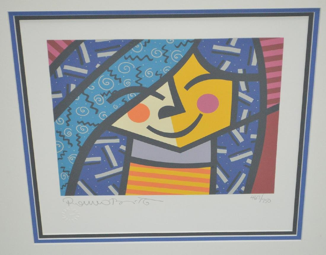 Romero Britto (BRAZILIAN, 1963) serigraph, pencil - 2