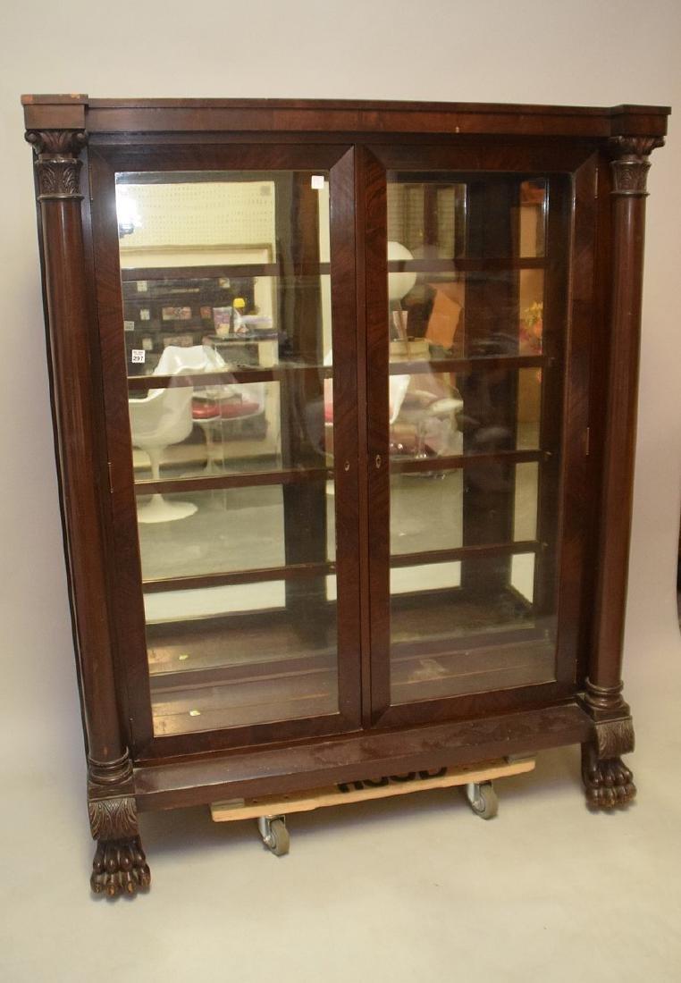 Mahogany circa 1890's 2 door bookcase with mirrored