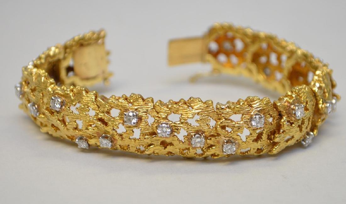 14k YELLOW GOLD DIAMOND BRACELET 26  .10 DIAMOND WITH