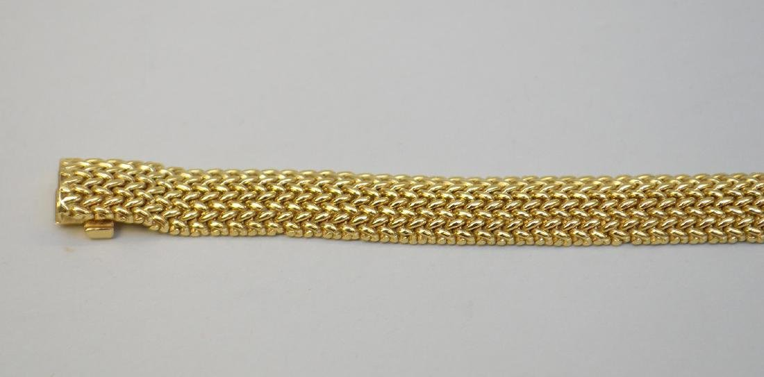 "18K Tiffany & Co Mesh bracelet, 7.5"" wt 33.4 grams in - 2"