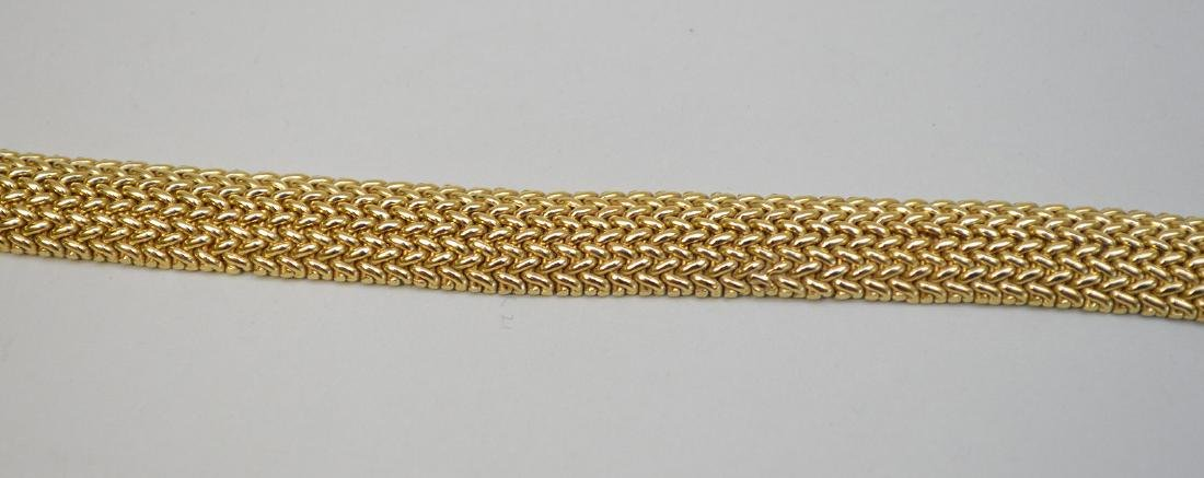 "18K Tiffany & Co Mesh bracelet, 7.5"" wt 33.4 grams in - 4"