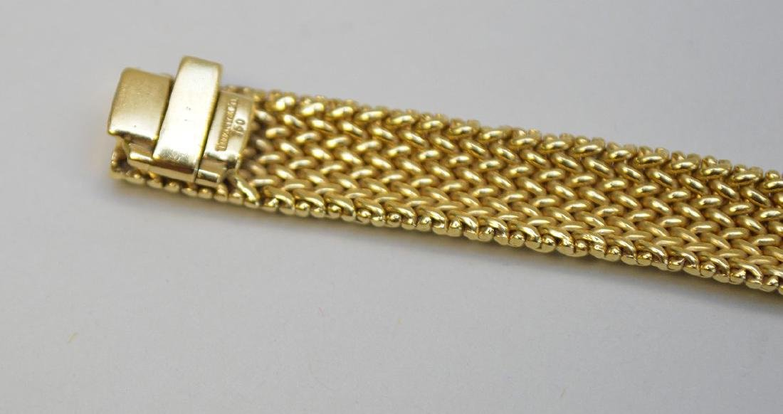 "18K Tiffany & Co Mesh bracelet, 7.5"" wt 33.4 grams in - 6"