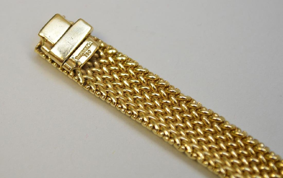 "18K Tiffany & Co Mesh bracelet, 7.5"" wt 33.4 grams in - 7"