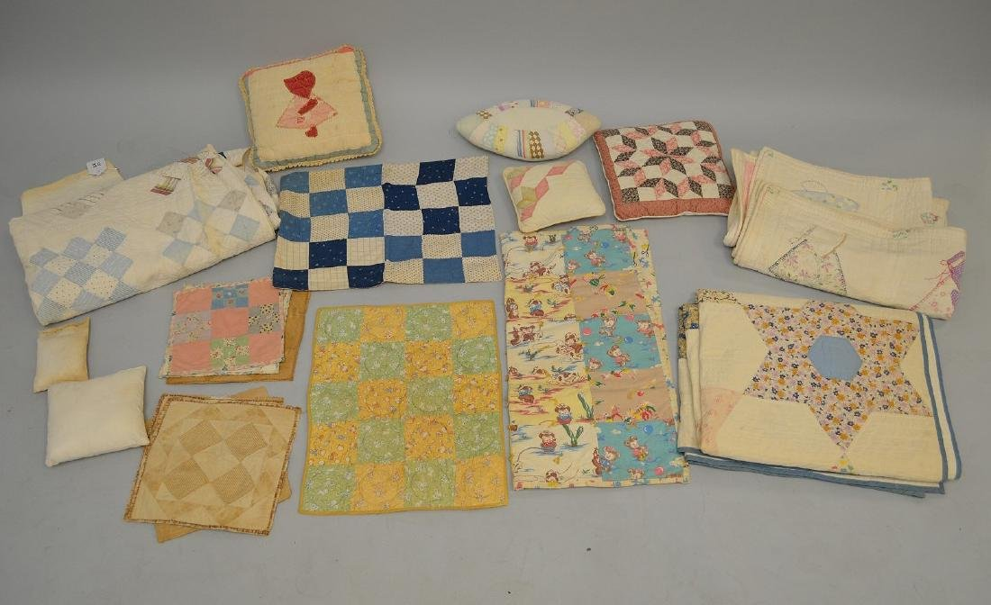 Lot of quilts, incl; child's quilts, doll size quilts,