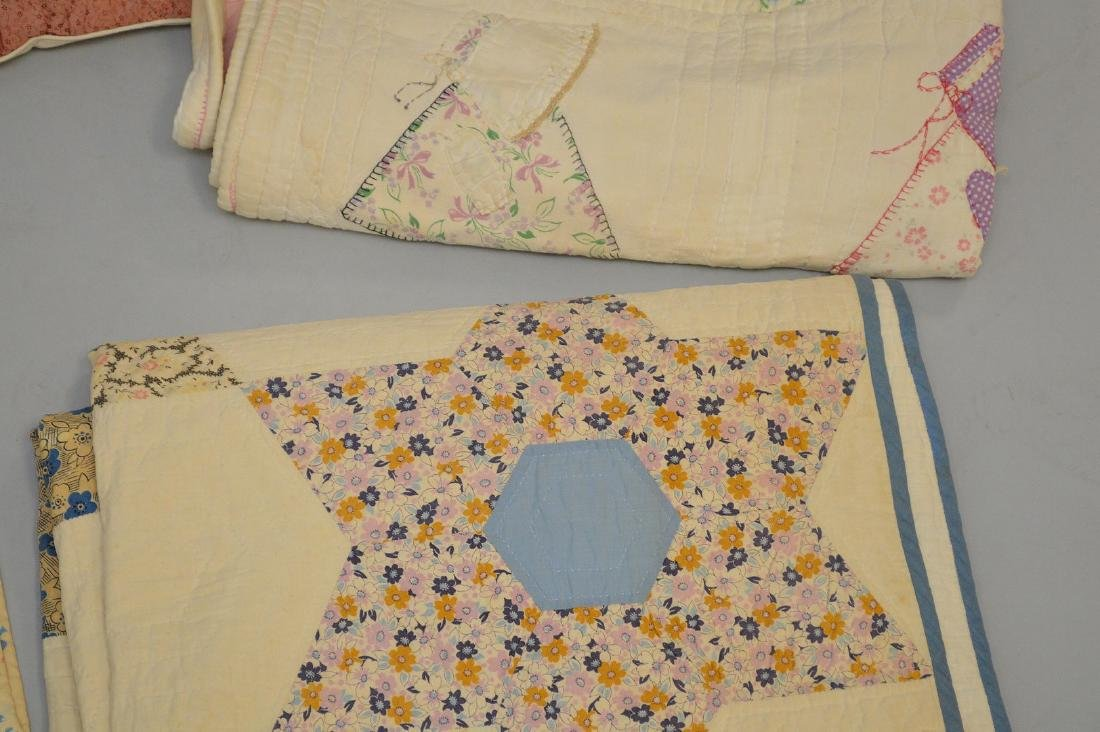 Lot of quilts, incl; child's quilts, doll size quilts, - 3