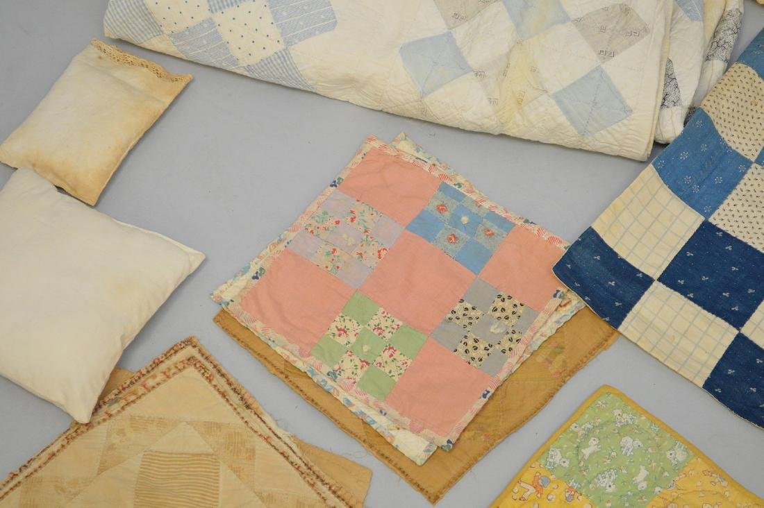 Lot of quilts, incl; child's quilts, doll size quilts, - 5