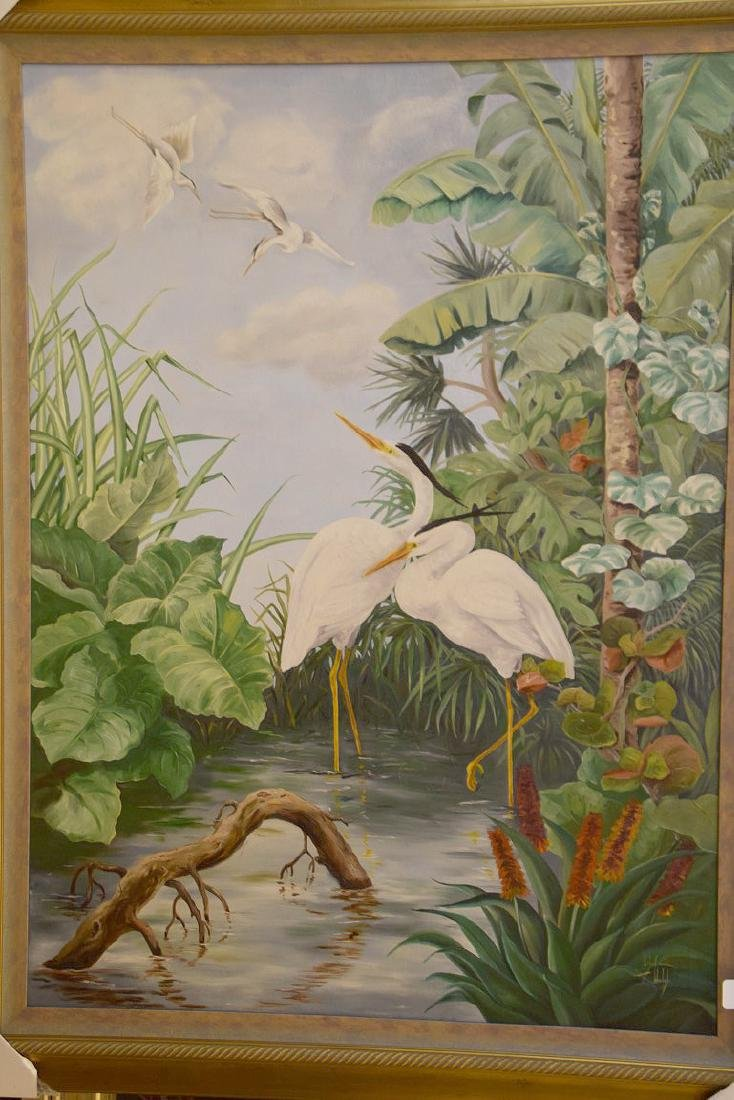 Lg. Florida painting by Ethel T. Welch oil on canvas, - 2