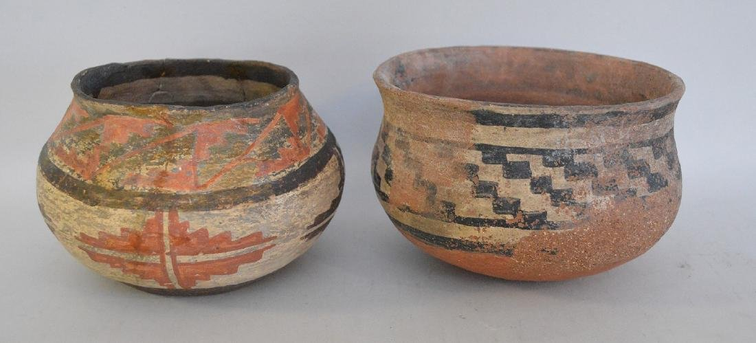 TWO NATIVE AMERICAN POTTERY ARTIFACT VESSELS -