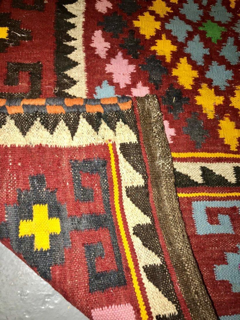"Semi-Antique Persian Flat Weave Rug 4' x 3' 10"" - 5"