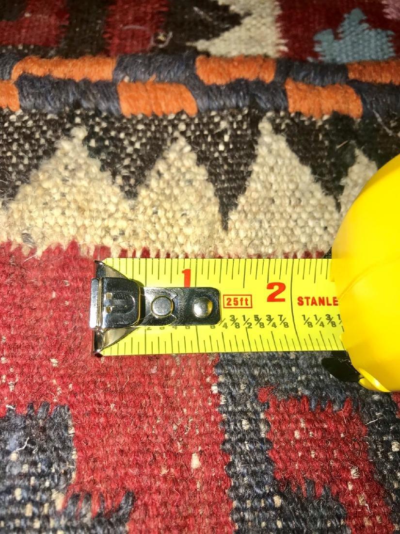 "Semi-Antique Persian Flat Weave Rug 4' x 3' 10"" - 6"