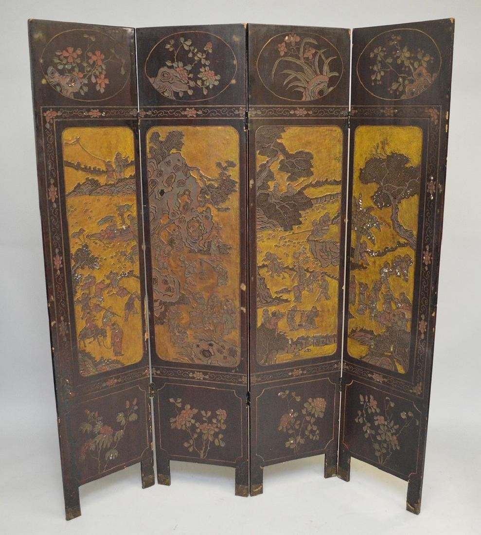 4 panel Chinese Screen , as is condition, each panel is