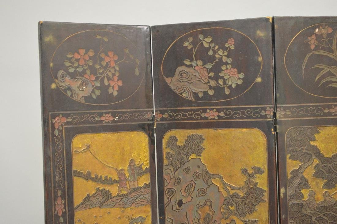 4 panel Chinese Screen , as is condition, each panel is - 2
