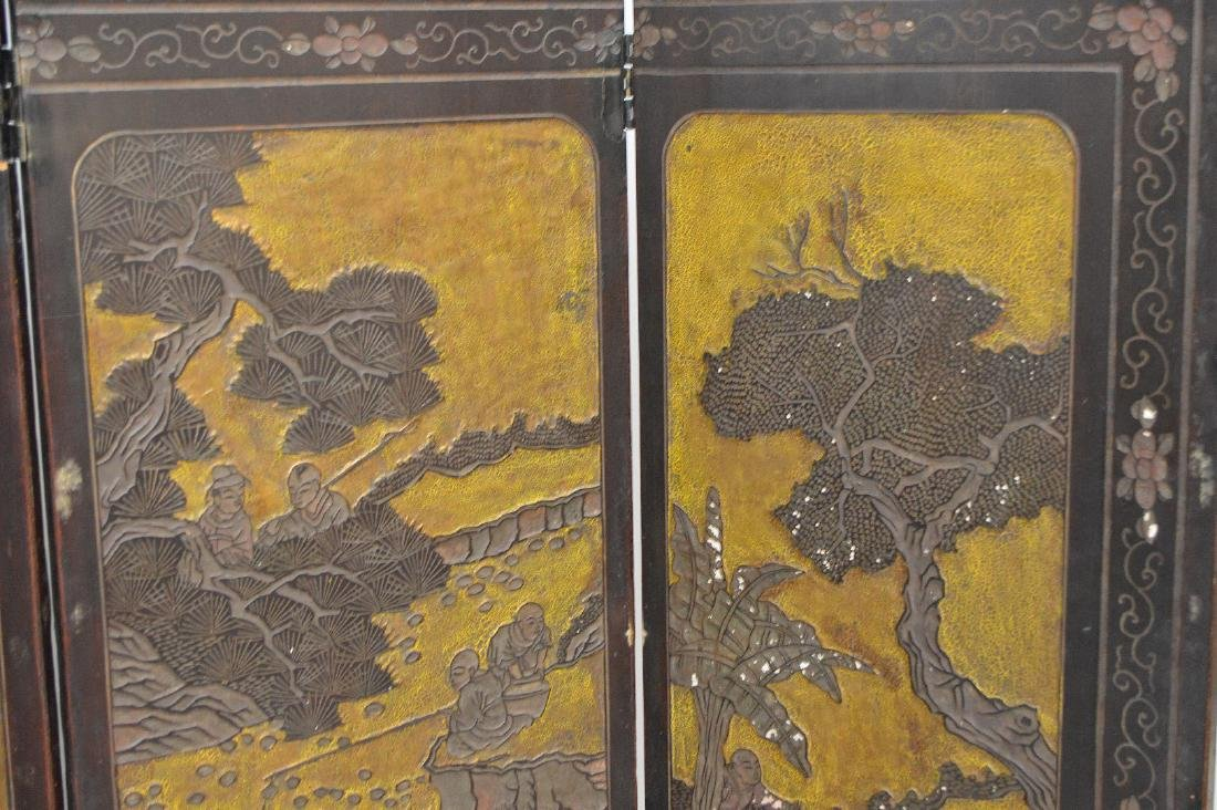4 panel Chinese Screen , as is condition, each panel is - 3