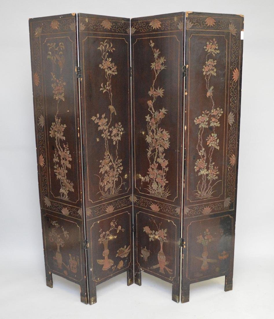 4 panel Chinese Screen , as is condition, each panel is - 4