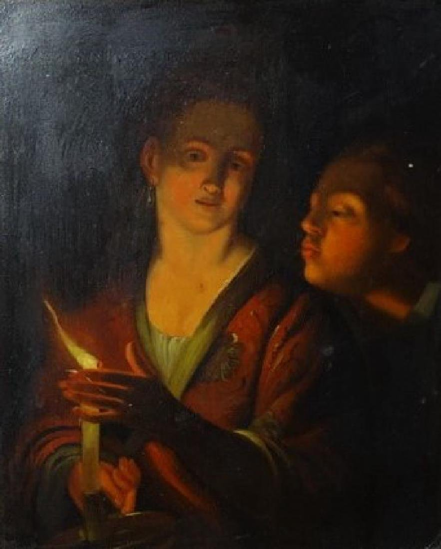 19TH C. CONTINENTAL OIL ON PANEL PORTRAIT PAINTING. - 2