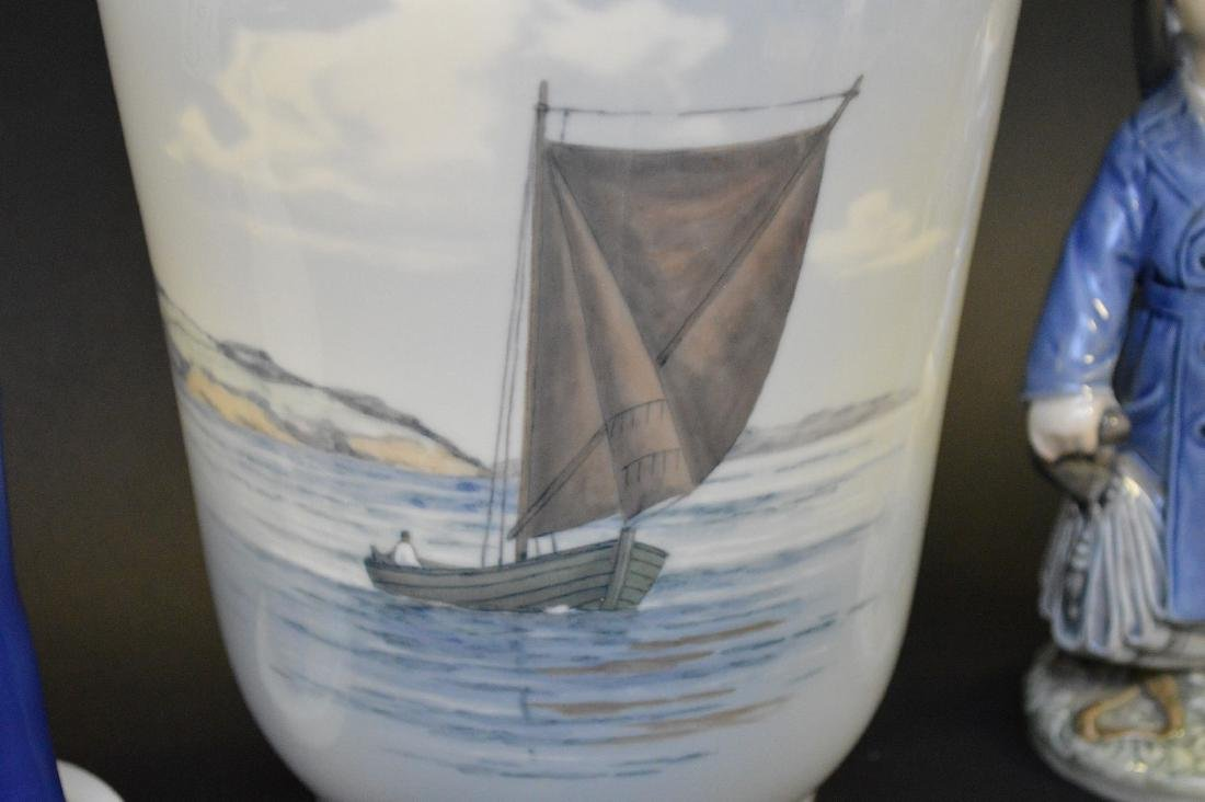 "Royal Copenhagen vase ""seascape"" (10 1/2""h) AND 2 - 4"