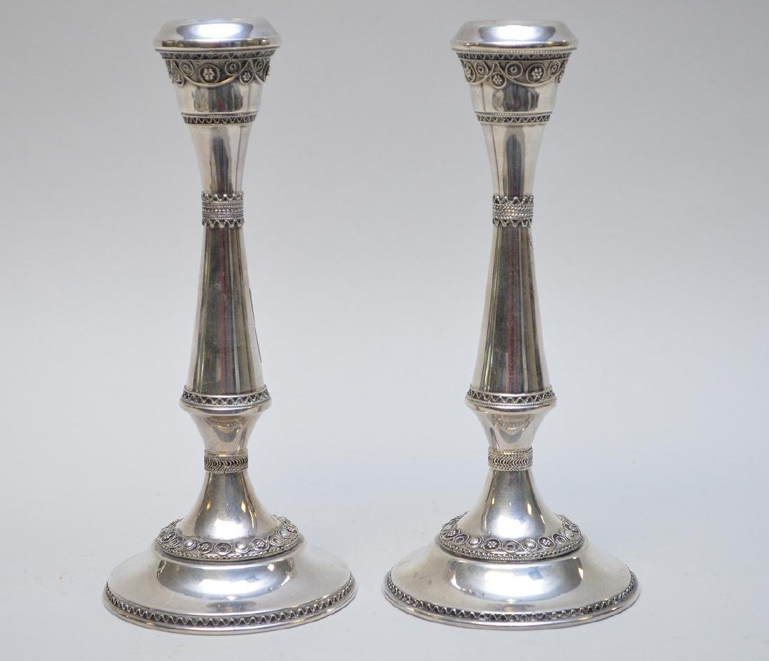 Pair sterling candlesticks, 6ozt