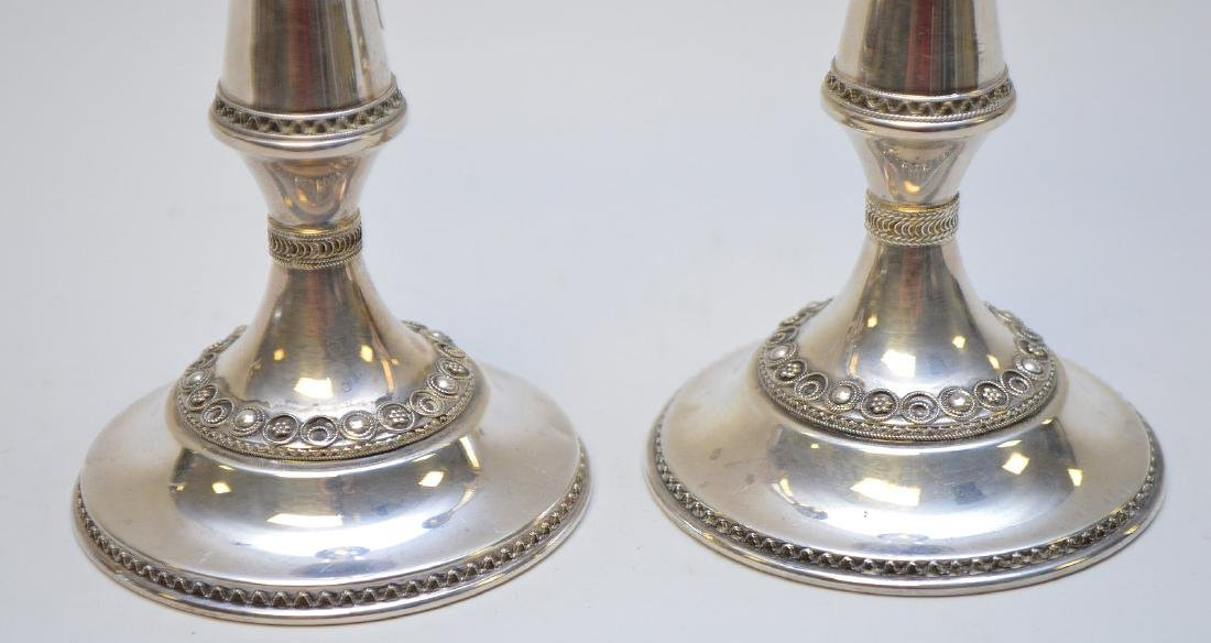Pair sterling candlesticks, 6ozt - 2