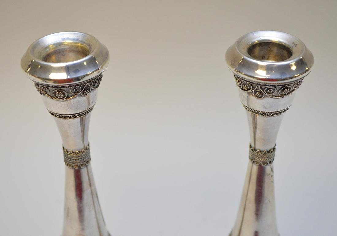 Pair sterling candlesticks, 6ozt - 3