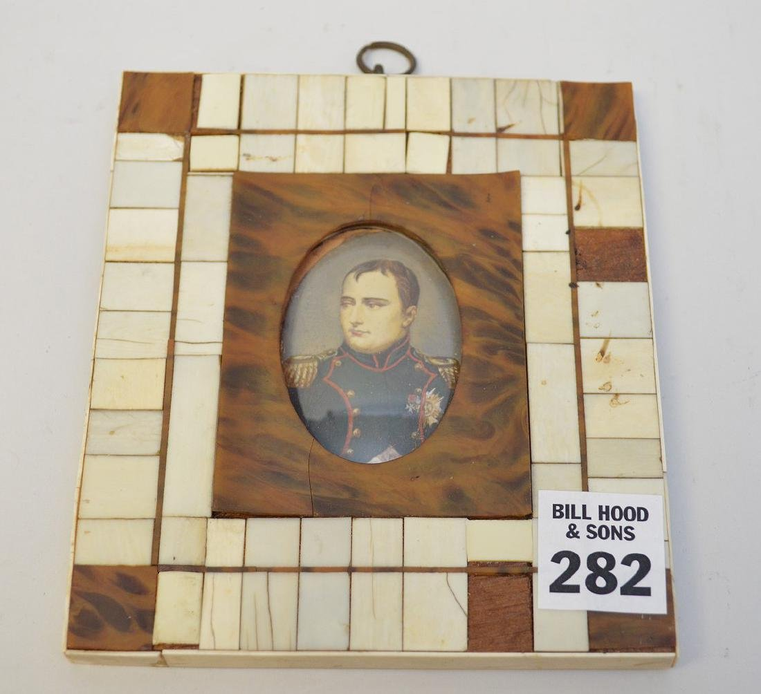 "Miniature painting of Napoleon, 4 3/4"" x 5 1/2"""