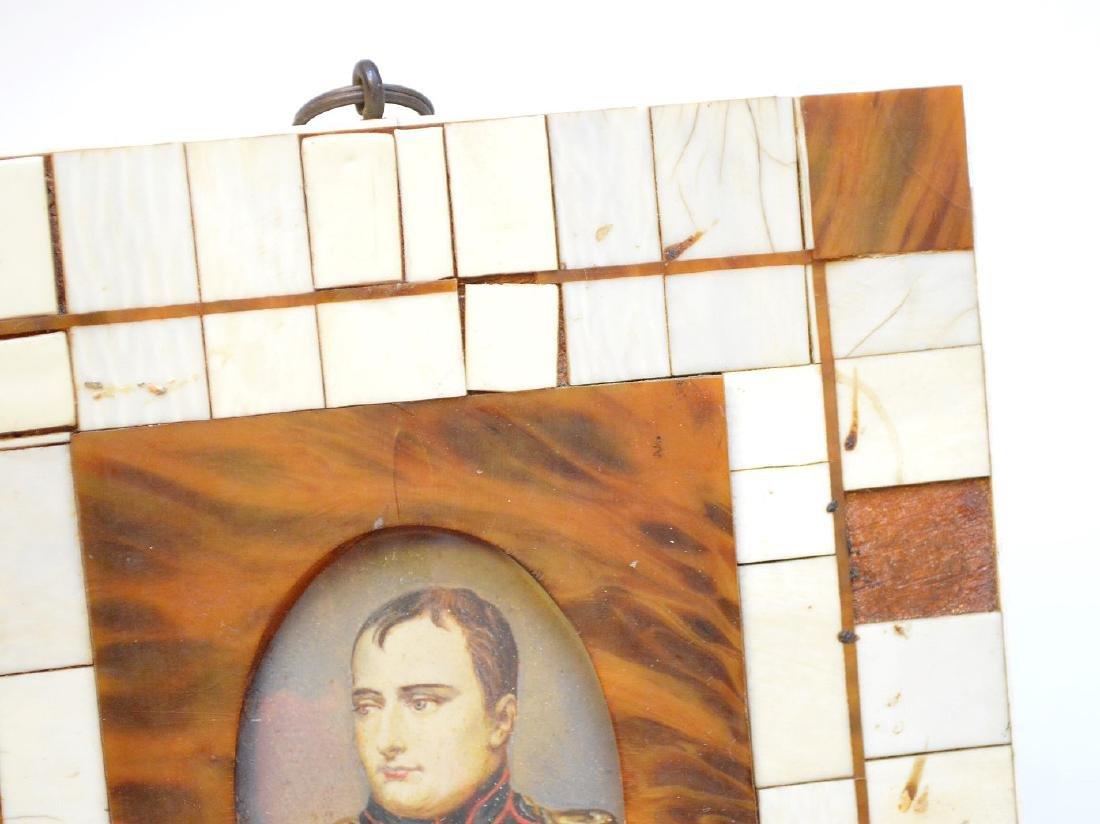 "Miniature painting of Napoleon, 4 3/4"" x 5 1/2"" - 3"
