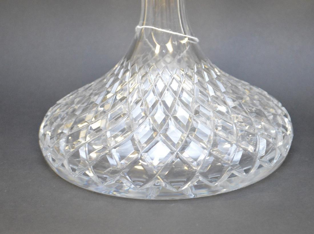 """Waterford footed bowl (5 1/2""""h) and ships decanter (11 - 2"""
