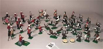 TROPHY MINIATURES ZULU WARS TOY SOLDIERS  47 pieces