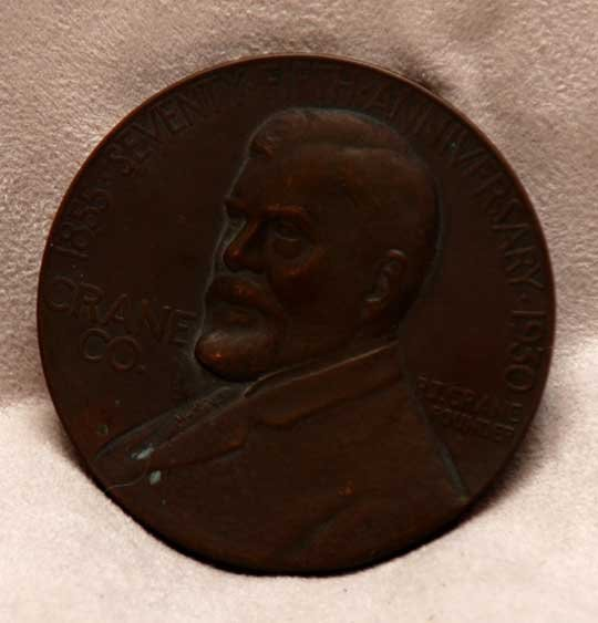 15C: Medallic Art Co NY bronzed medal 1930 75th