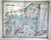 291A Seven vintage 1855 maps of states Mississippi A