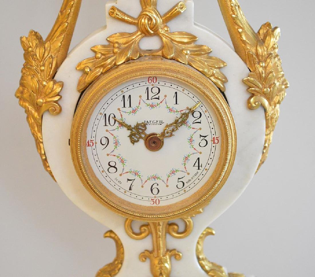 Jaeger Gilt Bronze & Marble Clock.  The Gilt Bronze - 2