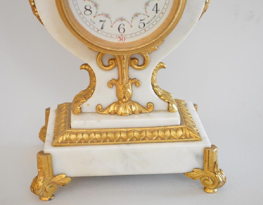Jaeger Gilt Bronze & Marble Clock.  The Gilt Bronze - 3