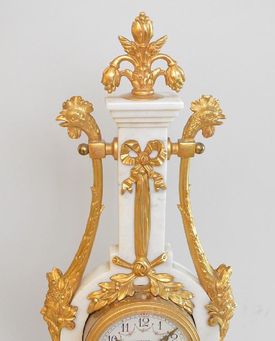 Jaeger Gilt Bronze & Marble Clock.  The Gilt Bronze - 4