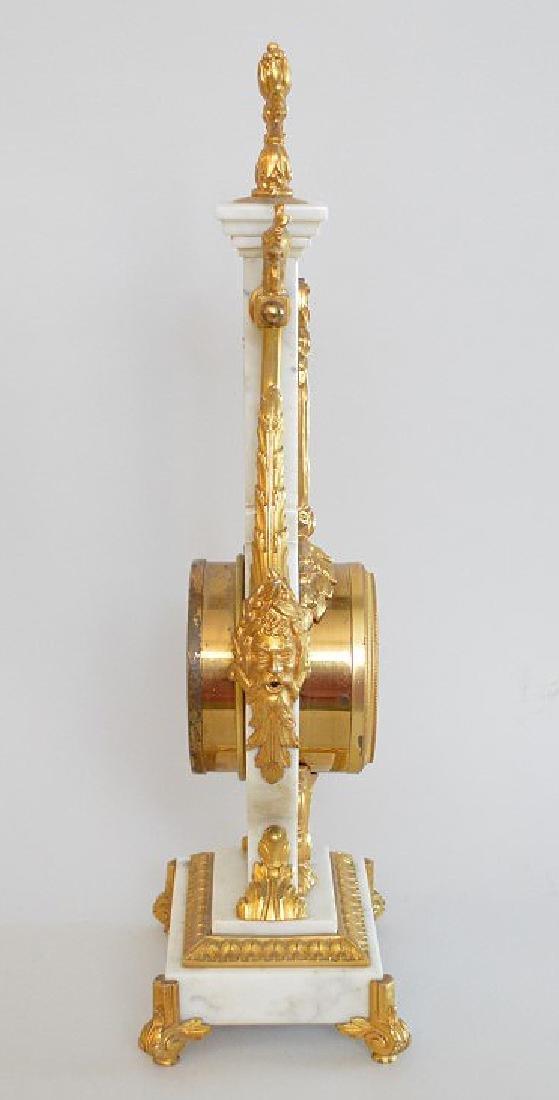 Jaeger Gilt Bronze & Marble Clock.  The Gilt Bronze - 5