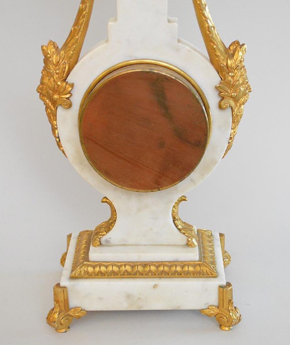 Jaeger Gilt Bronze & Marble Clock.  The Gilt Bronze - 7