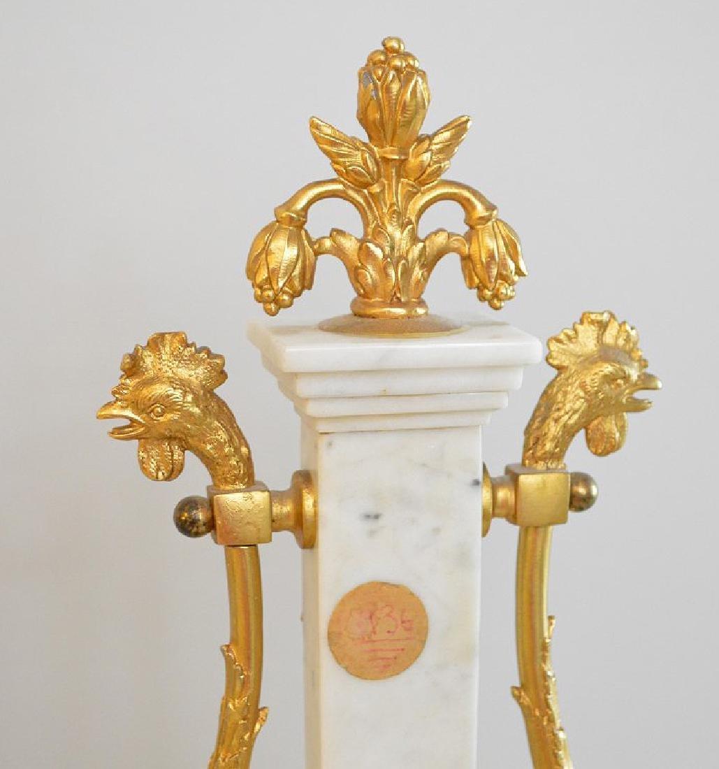 Jaeger Gilt Bronze & Marble Clock.  The Gilt Bronze - 8