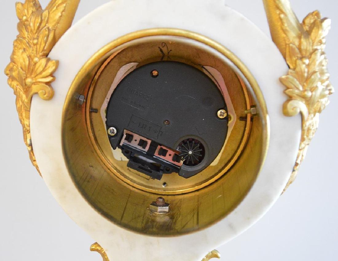 Jaeger Gilt Bronze & Marble Clock.  The Gilt Bronze - 9
