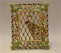 Jay Strongwater Bronze  Enamel Picture Frame